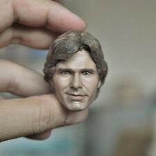 "Delicate Painting 1/6 Star War Harrison Ford Han Solo Head Sculpt Fit 12"" Figure"