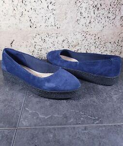 Clarks Lillia Petal Navy Suede Women's Slippers - UK Size 5