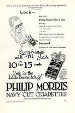 Philip Morris Navy Cut Cigarettes * American Ad. in the thirties