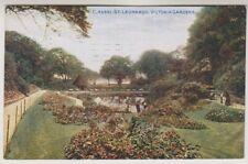Sussex (East) postcard - St Leonards, Victoria Gardens - P/U 1920 (A776)