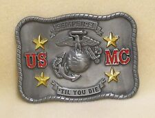Belt Buckle United States Marine Corps Eagle Globe Anchor Semper Fi Rectangle