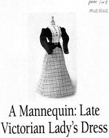 1:12 scale Emanjay Dollhouse Doll Clothes pattern #2129 1883 Evening Gown uncut