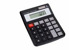 1x Dual power electronic calculator solar and battery powered batteries included