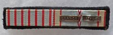 Placard Rappel Médaille WWII CROIX COMBATTANT ITALIE ORIGINAL FRENCH MEDAL GROUP