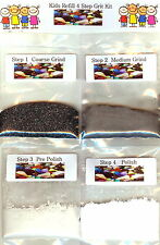 "Kids ""Kidz Gritz"" Refill Rock Tumbler Grit Kit Polishes 1/2 lb Rocks Made In USA"