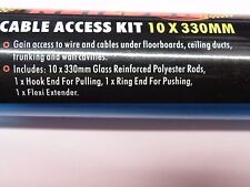 13 Pc 300mm Cable Access rod kit. Tool Box Size Fish Wire! 2465  Location 065