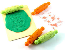 Rubber Rolling Pins -  X4 -  Birds & Hearts, Robots, Space, Flowers - Children