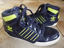 ADIDAS Hi Tops Navy Trainers Boots UK 5