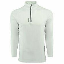 Reebok Men's Play Dry 1/4 Zip Jacket White S