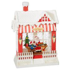 "10"" LED Lighted Santa's Toy Shop Water Snow Globe Christmas Lantern  RAZ IMPORTS"