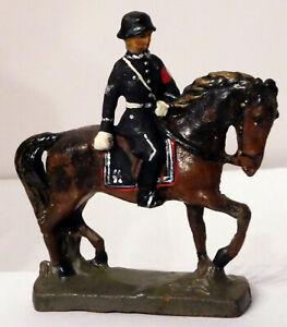 Elastolin German Leibstandarte Soldier on Horseback #2