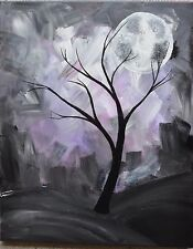 Beautiful moon oroginal acrylic painting on canvas direct buy from artist