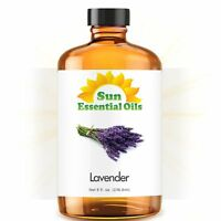 French Lavender Essential Oil (Huge 8oz - Amber Bottle) 100% Pure Essential Oil