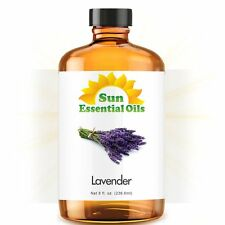 Lavender Essential Oil (Huge 8oz) 100% Pure Amber Bottle + Dropper