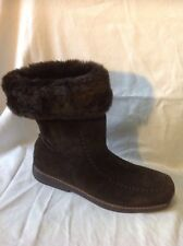 Lilley&Skinner Brown Mid Calf Suede Boots Size 41