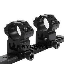 "2X 25.4mm 1"" Ring Mounts For 20mm Rail Picatinny Weaver Hunting Rifle Scope"