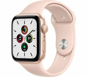 New Apple SmartWatch SE 32GB Gold Aluminum Case Pink Sand Sport Band 40MM GPS
