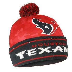 Official Houston Texans Camouflage Light Up Printed Christmas Beanie