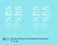 K4 TT Decals Spokane Portland and Seattle 40 Ft Boxcar White