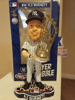 AJ BURNETT #34 New York Yankees Bobble Head 2009 World Series Champions MLB