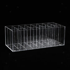 24 Slots Clear Acrylic Display Stand Holder for Lipstick Mascara Makeup Pen