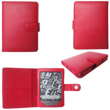 Genuine Leather Pouch Case Cover for Amazon Kindle 4 4th Generation Edition RED