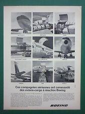 7/64 PUB BOEING CARGO 707 AIR FRANCE TWA SABENA QANTAS PAN AM AIRLINES FRENCH AD