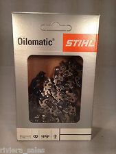 """Genuine Stihl 63pm3 MOTOSEGA CATENA / Blade per Alko 25A 16 """" 1,3 mm 3/8"""".050 """""""