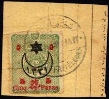 """Palästina 1913 """" Caiffa Telegraph2 Binden 5 Para Ottoman Briefmarke Coles &"""