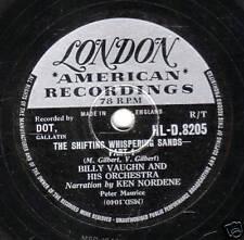 1956 UK# 20 BILLY VAUGHN 78  SHIFTING WHISPERING SANDS  UK LONDON HL,D 8205 EX+
