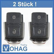 2 Piezas VW 2 Botones Llave plegable sólo Carcasa para Volkswagen Seat llave