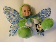 "Geppeddo Cuddle Kids ""Brina Butterfly"" Baby Doll Porcelain Face Plush 2003"