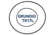 SET CINGHIE GRUNDIG TK 17 L REGISTRATORE A BOBINE BOBINA NUOVE FRESCHE TK17L 17L
