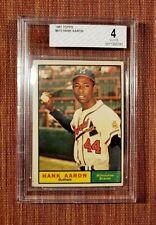 1961 Topps #415 Hank Aaron Milwaukee Braves Vintage Original Baseball Card BVG 4