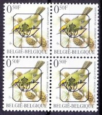B5b- Belgium 1991 MNH Blk, Pre-cancel Birds, Goldcrest