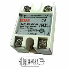 Output 90-480VAC SSR 25DA-H 25A DC-AC Fotek Solid State Relay for Arduino