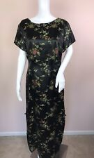 China Silk House Large Dress Black Short Sleeve Asian Made in Hawaii
