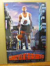vintage Godzilla Vs. Barkley NIKE basketball poster 1992 original 5397