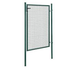 [pro.tec]® Gartentür 200x106 grün Gartentor Zauntür Gartenpforte Gartenzaun Tür