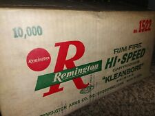 Old 1960's Remington Arms 22 Long Rifle 10000 rds Kleanbore Empty Ammo Box Case