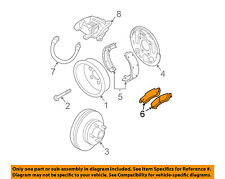 GM OEM Brake-Rear Pads 18026156