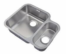 1.5 Bowls Satin Finish Stainless Steel Undermount Kitchen Sink Utility (D12L)