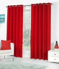 New Polyester 2 Piece Door Curtain Set - Red, 4 x 7 ft