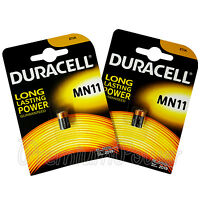 2 x Duracell Alkaline MN11 6V batteries E11A A11 WE11 CX21A L1016 Remote Alarms