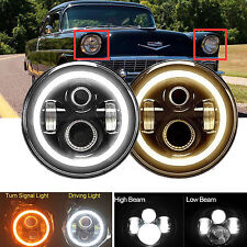 """7"""" LED Round DRL Hi Low Beam Headlight for Chevy Truck 1947-1957 and 1962-1972"""