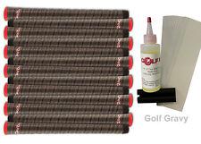 13 Winn Dri Tac Wrap Dark Gray Standard Size Golf Grips + Free Kit