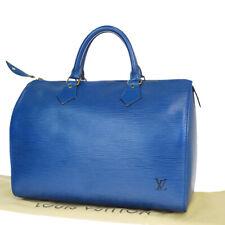 Auth LOUIS VUITTON Speedy 30 Travel Hand Bag Epi Leather Blue M43005 39MA543