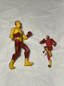 2011 McDonalds Happy Meal Kid Flash Toy And Other Flash Figure
