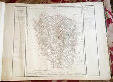 Dépt 78 Carte de la Seine & Oise de 1790 Gravure sur Cuivre Aquarellée  73x56 cm