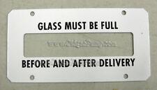 BOWSER MODEL 585-595 GAS PUMP SIGHT GLASS TRIM PLATE SB-112